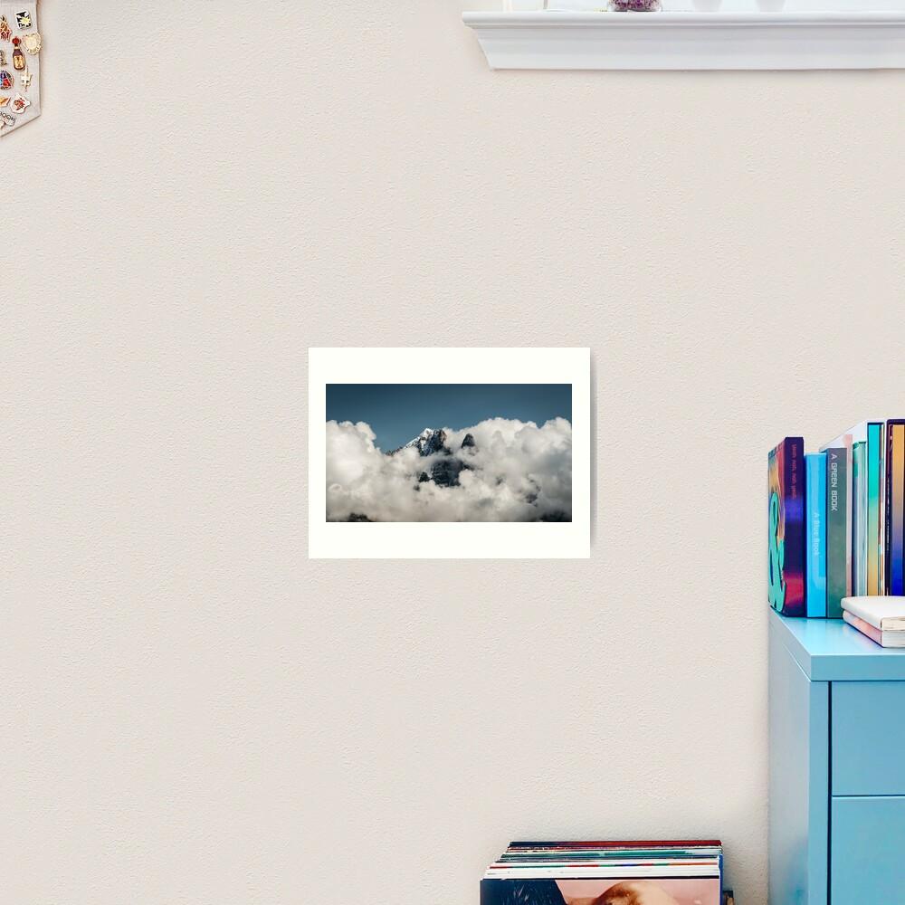 In clouds Art Print