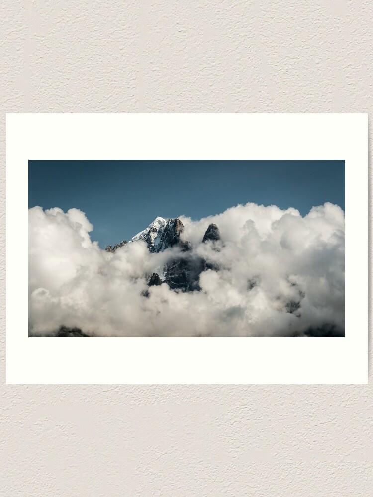 Alternate view of In clouds Art Print