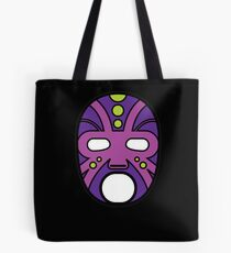 """Lucha Libre"" (Free Fight) Mexican Wrestling Mask Purple Tote Bag"