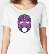 """""""Lucha Libre"""" (Free Fight) Mexican Wrestling Mask Purple Women's Relaxed Fit T-Shirt"""