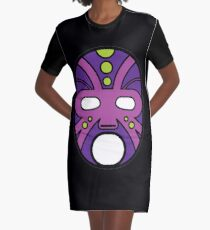 """Lucha Libre"" (Free Fight) Mexican Wrestling Mask Purple Graphic T-Shirt Dress"