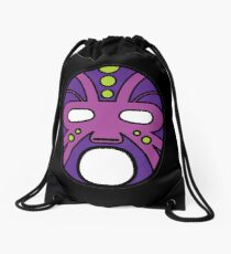 """""""Lucha Libre"""" (Free Fight) Mexican Wrestling Mask Purple Drawstring Bag"""