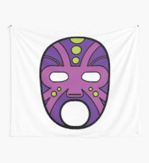 """""""Lucha Libre"""" (Free Fight) Mexican Wrestling Mask Purple Wall Tapestry"""