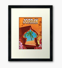 Jordan Palace travel poster Framed Print