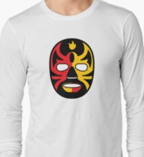 """""""Lucha Libre"""" (Free Fight) Mexican Wrestling Mask Red & Yellow Fire T-Shirt"""