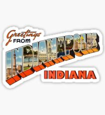 Greetings from Indianapolis, Indiana 1 Sticker