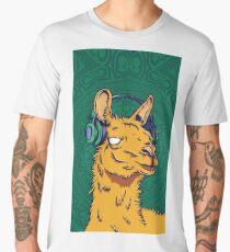 Llama Scarf Comel Music Men's Premium T-Shirt