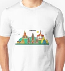 Cambodia, ?Phnom Penh City Skyline Design T-Shirt