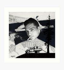 Jack Kerouac | On the Road | Digital Collage Art Print