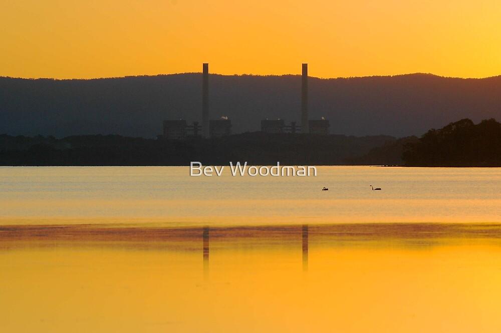 Sunset Stacks over Eraring by Bev Woodman