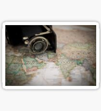 Map and camera (Far East) Sticker