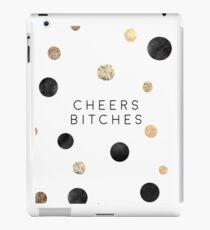 CHEERS BITCHES SIGN, Funny Bar Decor,Funny Print,Bar Wall Decor,Home Bar Decor,Party Gift,Drink Sign,Cheers Quote,Happy Birthday,Quote Print iPad Case/Skin