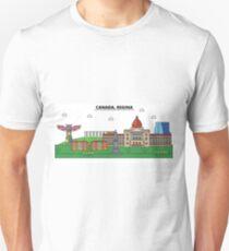 Canada, Regina City Skyline Design T-Shirt