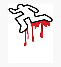 MURDER OUTLINE Coroner outline dead person  Photographic Print