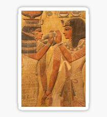 Other Treasures Of The Louvres - 7 - Hathor And Seti ©  Sticker