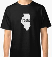 Roots - Illinois State America United States USA US Patriot Hometown Birth Place Home Map Classic T-Shirt