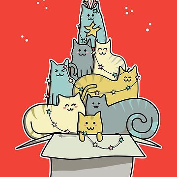Cute Kawaii Cat Christmas Tree by freeves