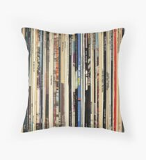 Classic Rock Vinyl Records  Throw Pillow