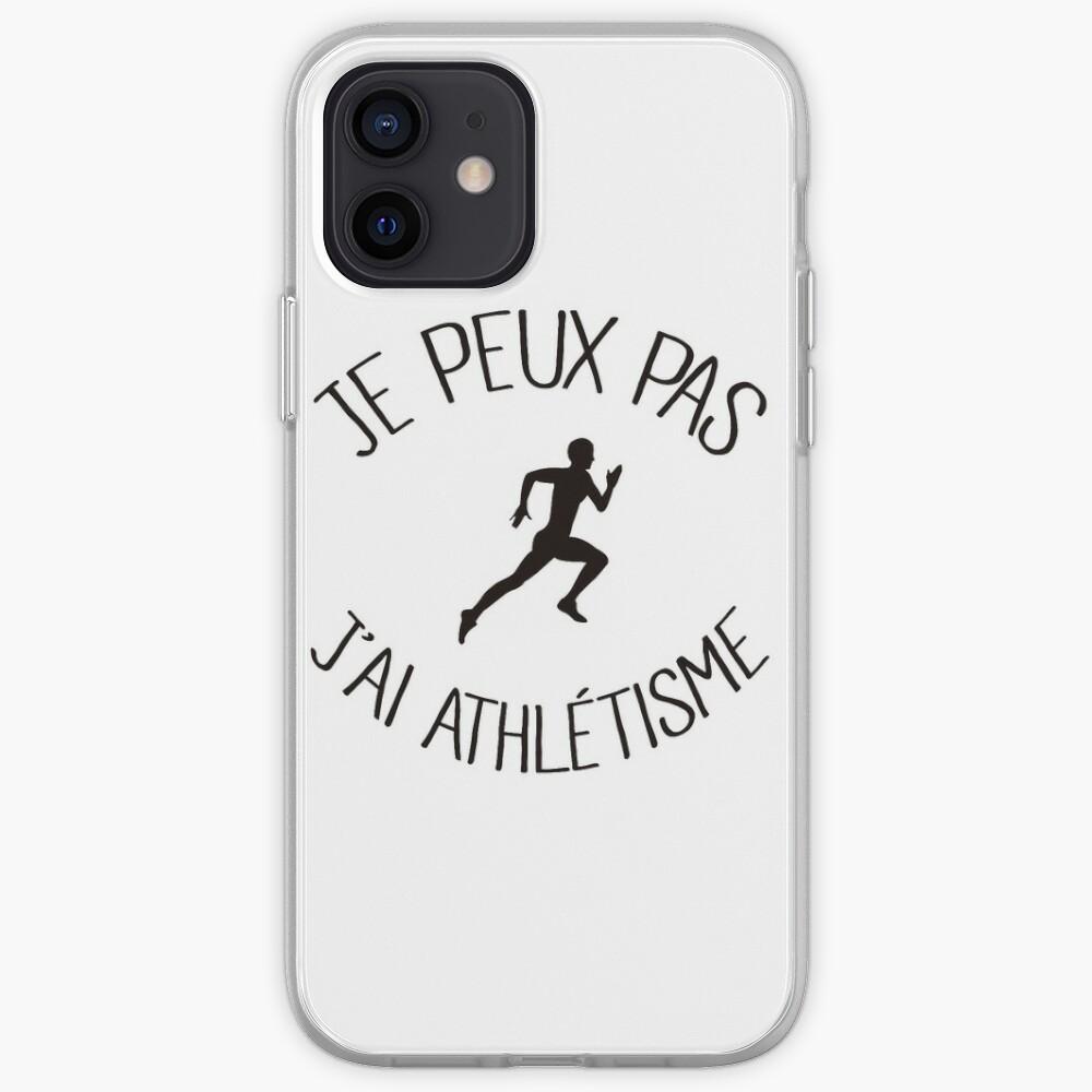 Je peux pas j'ai Athlétisme | Coque iPhone