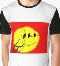 The Birds Perched On A Tree In The Sun Graphic T-Shirt