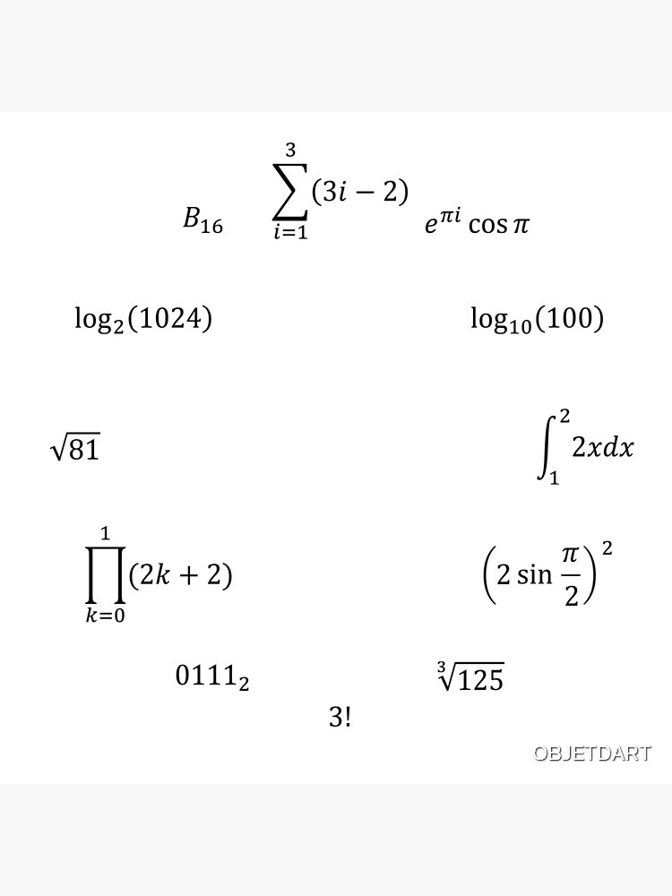 Math Equations and Notations by OBJETDART