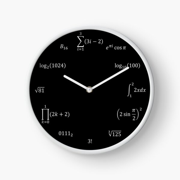 Math Equations and Notations Clock