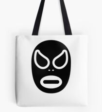 Lucha Libre // Mexican Wrestling Mask Black and White Tote Bag