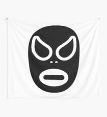 Lucha Libre // Mexican Wrestling Mask Black and White Wall Tapestry