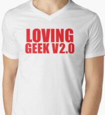 LOVING GEEK V2.0 Mens V-Neck T-Shirt