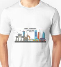 China, Guangzhou City Skyline Design T-Shirt