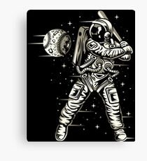 Space Baseball Astronaut Retro Vintage Canvas Print