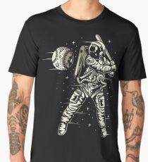 Space Baseball Astronaut Retro Vintage Men's Premium T-Shirt