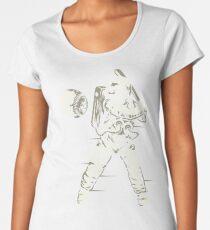 Space Baseball Astronaut Retro Vintage Women's Premium T-Shirt