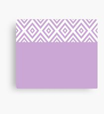 Abstract geometric pattern - purple and white. Canvas Print