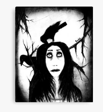 Her eyes so innocent... on hallowed ground. Canvas Print