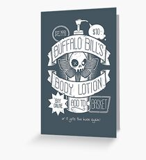 Body Lotion Greeting Card