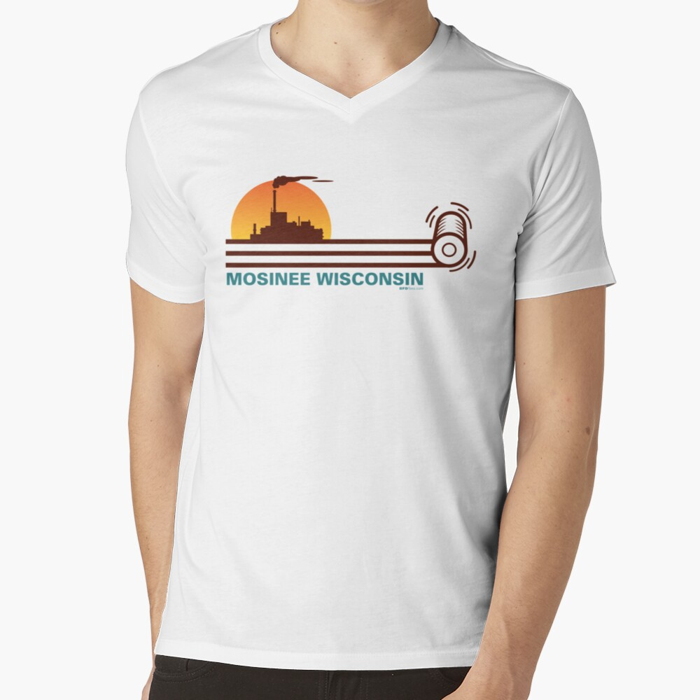 Mosinee WI Skyline V-Neck T-Shirt