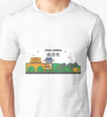 China, Nanjing City Skyline Design T-Shirt