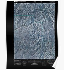 USGS TOPO Map Idaho ID The Roost 20110131 TM Inverted Poster