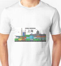 China, Shanghai City Skyline Design T-Shirt