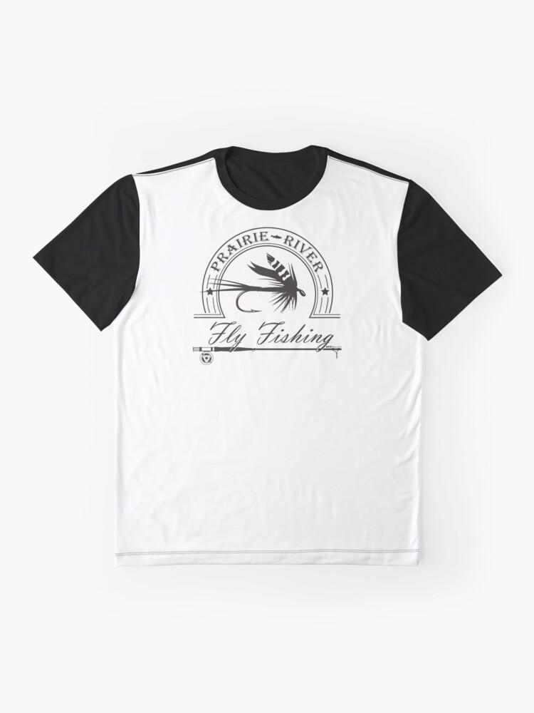 Alternate view of Prairie River Fly Fishing - Black Graphic T-Shirt