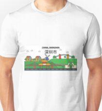 China, Shenzhen City Skyline Design T-Shirt