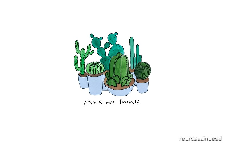 Cactus phone case sticker tumblr line art by redrosesindeed