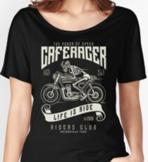 Cafe Racer Motorcycle Retro Vintage Women's Relaxed Fit T-Shirt
