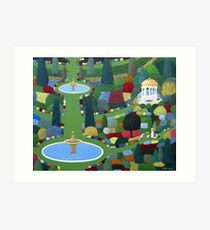 Fountain Garden Art Print