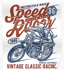 Motorcycle Race Retro Vintage Poster