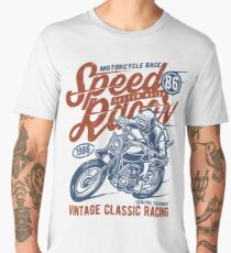 Motorcycle Race Retro Vintage Men's Premium T-Shirt