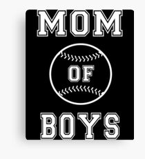 Mom of Boys - Baseball Mom Canvas Print