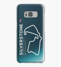 Silverstone Racetrack infographic Samsung Galaxy Case/Skin