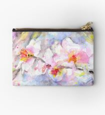 Cherry Blossom In Watercolour Zipper Pouch